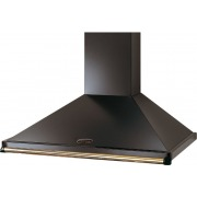 Rangemaster CLAHDC90BB Classic Black with Brass Trim 90cm Chimney Hood