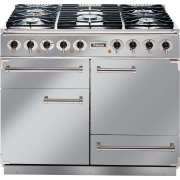 Falcon 1092 Deluxe Stainless Steel Chrome 110cm Dual Fuel Range Cooker