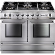 Falcon 1092 Continental Stainless Steel Chrome 110cm Dual Fuel Range Cooker