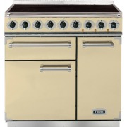 Falcon 900 Deluxe Cream Chrome 90cm Electric Induction Range Cooker