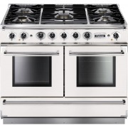 Falcon 1092 Continental Ice White Brushed Chrome 110cm Dual Fuel Range Cooker