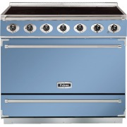 Falcon 900S China Blue Brushed Chrome 90cm Electric Induction Range Cooker