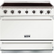 Falcon 900S Ice White Brushed Chrome 90cm Electric Induction Range Cooker