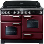 Rangemaster CDL110EICY/C Classic Deluxe Cranberry with Chrome Trim 110cm Electric Induction Range Cooker