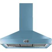 Falcon Super Extract China Blue Brushed Chrome 90cm Chimney Cooker Hood
