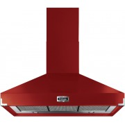 Falcon Super Extract Cherry Red Brushed Chrome 110cm Chimney Cooker Hood