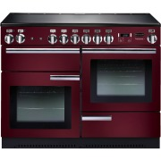 Rangemaster PROP110EICY/C Professional Plus Cranberry with Chrome Trim 110cm Electric Induction Range Cooker
