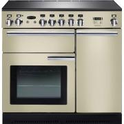 Rangemaster PROP90ECCR/C Professional Plus Cream with Chrome Trim 90cm Electric Ceramic Range Cooker