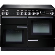 Rangemaster PROP110ECGB/C Professional Plus Black with Chrome Trim 110cm Electric Ceramic Range Cooker