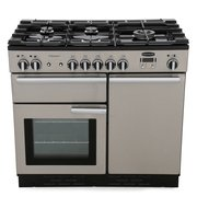 Rangemaster PROP100DFFSS/C Professional Plus Stainless Steel with Chrome Trim 100cm Dual Fuel Range Cooker