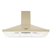 Rangemaster LEIHDC90CR/C Cream with Chrome Trim 90cm Chimney Hood