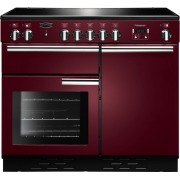 Rangemaster PROP100EICY/C Professional Plus Cranberry with Chrome Trim 100cm Electric Induction Range Cooker