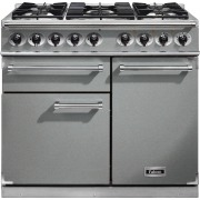 Falcon 1000 Deluxe Stainless Steel Chrome 100cm Dual Fuel Range Cooker