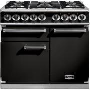 Falcon 1000 Deluxe Black Chrome 100cm Dual Fuel Range Cooker