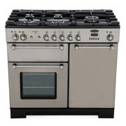 Rangemaster KCH100DFFSS/C Kitchener Stainless Steel with Chrome Trim 100cm Dual Fuel Range Cooker