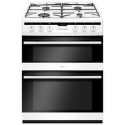 Amica AFG6450WH Gas Cooker with Double Oven