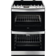 AEG CCB6740ACM SteamBake Electric Cooker with Double Oven