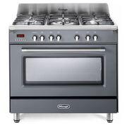 DeLonghi DVRS 916-DF/SLATE 90cm Dual Fuel Range Cooker