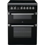 Indesit ID60C2(K) S Ceramic Electric Cooker with Double Oven