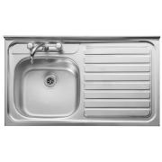 Leisure Contract LC106R Right Hand Drainer Square Front Stainless Steel Inset Sink