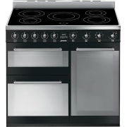 Smeg Symphony SY93IBL 90cm Electric Induction Range Cooker