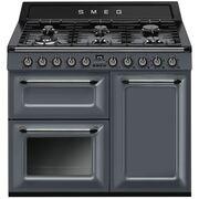 Smeg Victoria TR103GR Gloss Slate Grey 100cm Dual Fuel Range Cooker