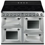 Smeg Victoria TR4110IX-1 Stainless Steel 110cm Electric Induction Range Cooker