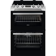 Zanussi ZCI66250XA Induction Electric Cooker with Double Oven
