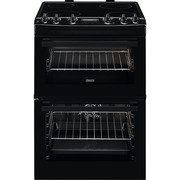 Zanussi ZCV66250BA Ceramic Electric Cooker with Double Oven
