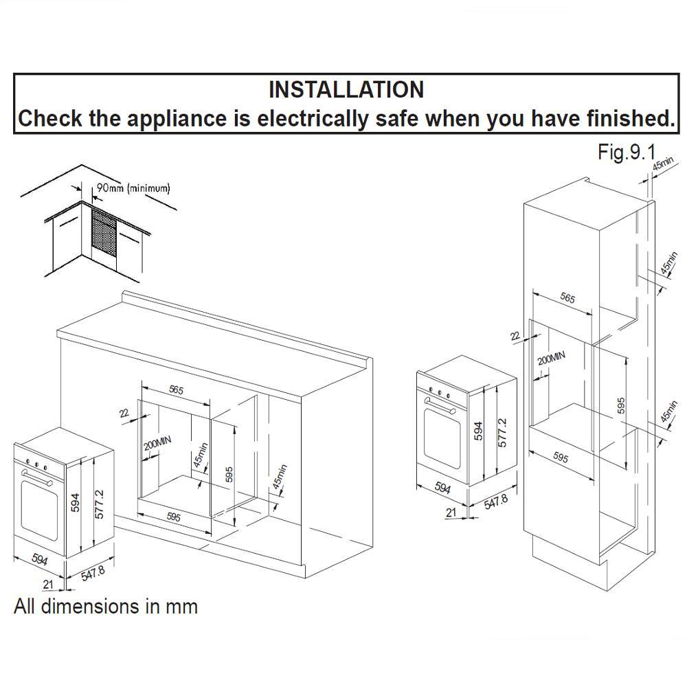 new world electric oven manual