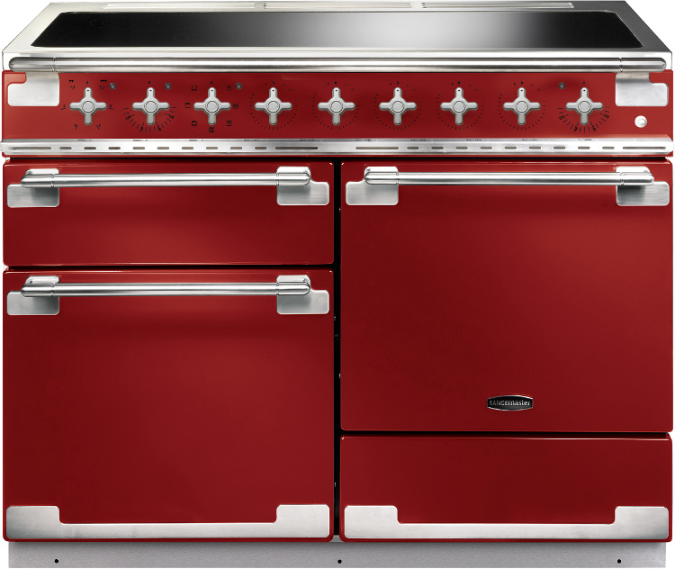 Rangemaster ELS110EIRD Elise Cherry Red 110cm Electric Induction Range Cooker