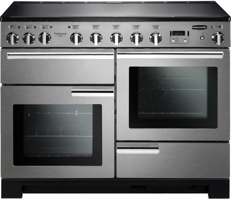 Rangemaster PDL110EISS/C Professional Deluxe 110 Induction Stainless Steel 110cm Electric Induction Range Cooker