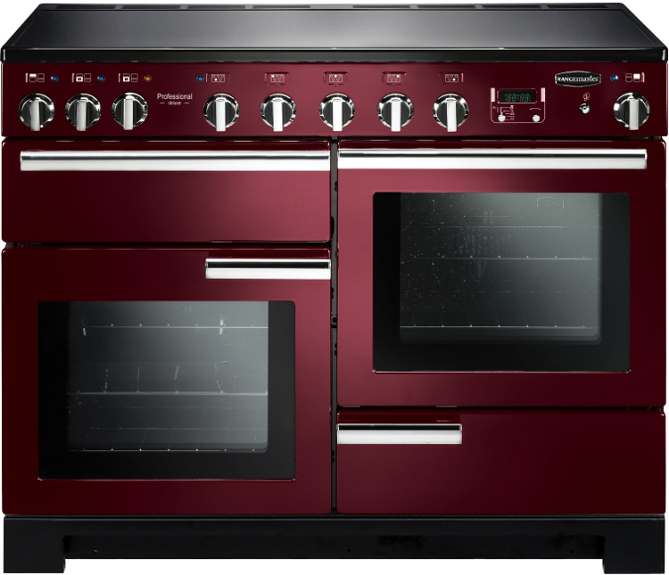 Rangemaster PDL110EICY/C Professional Deluxe 110 Induction Cranberry 110cm Electric Induction Range Cooker