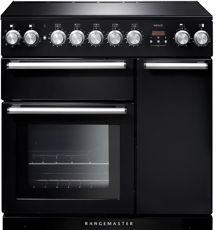 Rangemaster NEX90EIBL/C Nexus 90 Induction Black 90cm Electric Induction Range Cooker