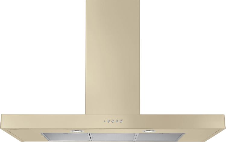 Rangemaster UNBHDS100CR Flat Cream 100cm Chimney Hood