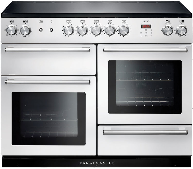 Rangemaster NEX110EIWH/C Nexus 110 Induction White 110cm Electric Induction Range Cooker