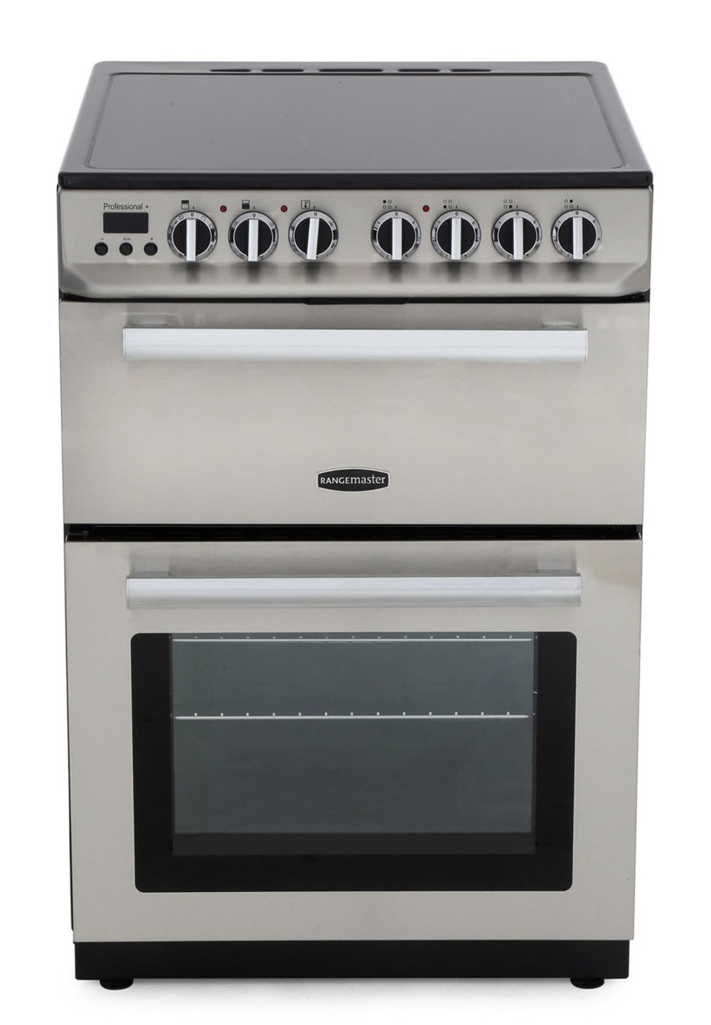 Rangemaster PROP60ECSS/C Professional Plus 60 Stainless Steel with Chrome Trim Ceramic Electric Cooker with Double Oven