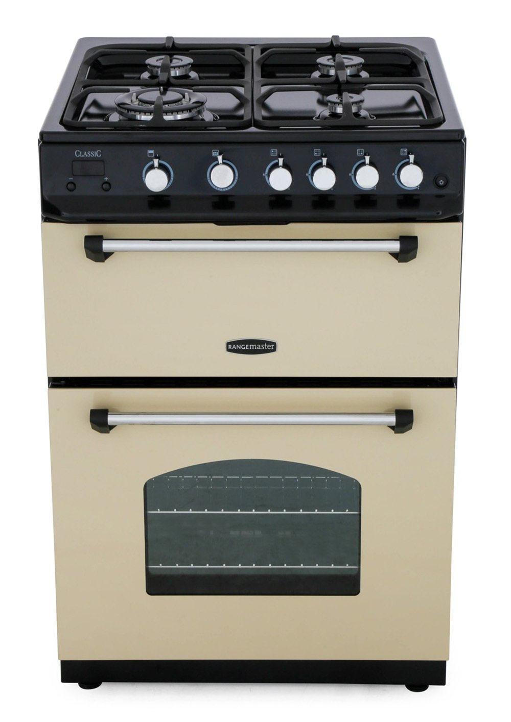 Rangemaster CLAS60NGFCR/C Classic 60 NG Cream with Chrome Trim Gas Cooker with Double Oven