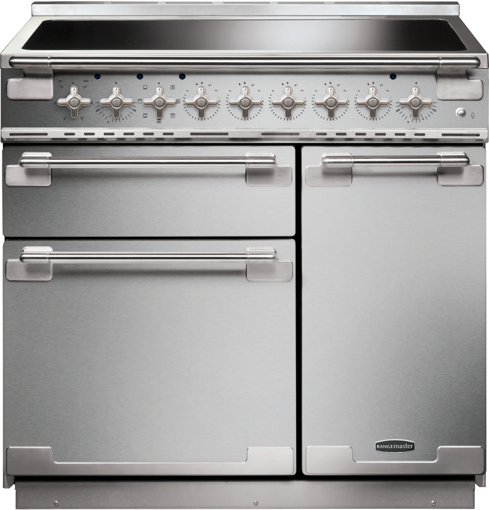 Rangemaster ELS90EISS Elise Stainless Steel with Brushed Chrome Trim 90cm Electric Induction Range Cooker