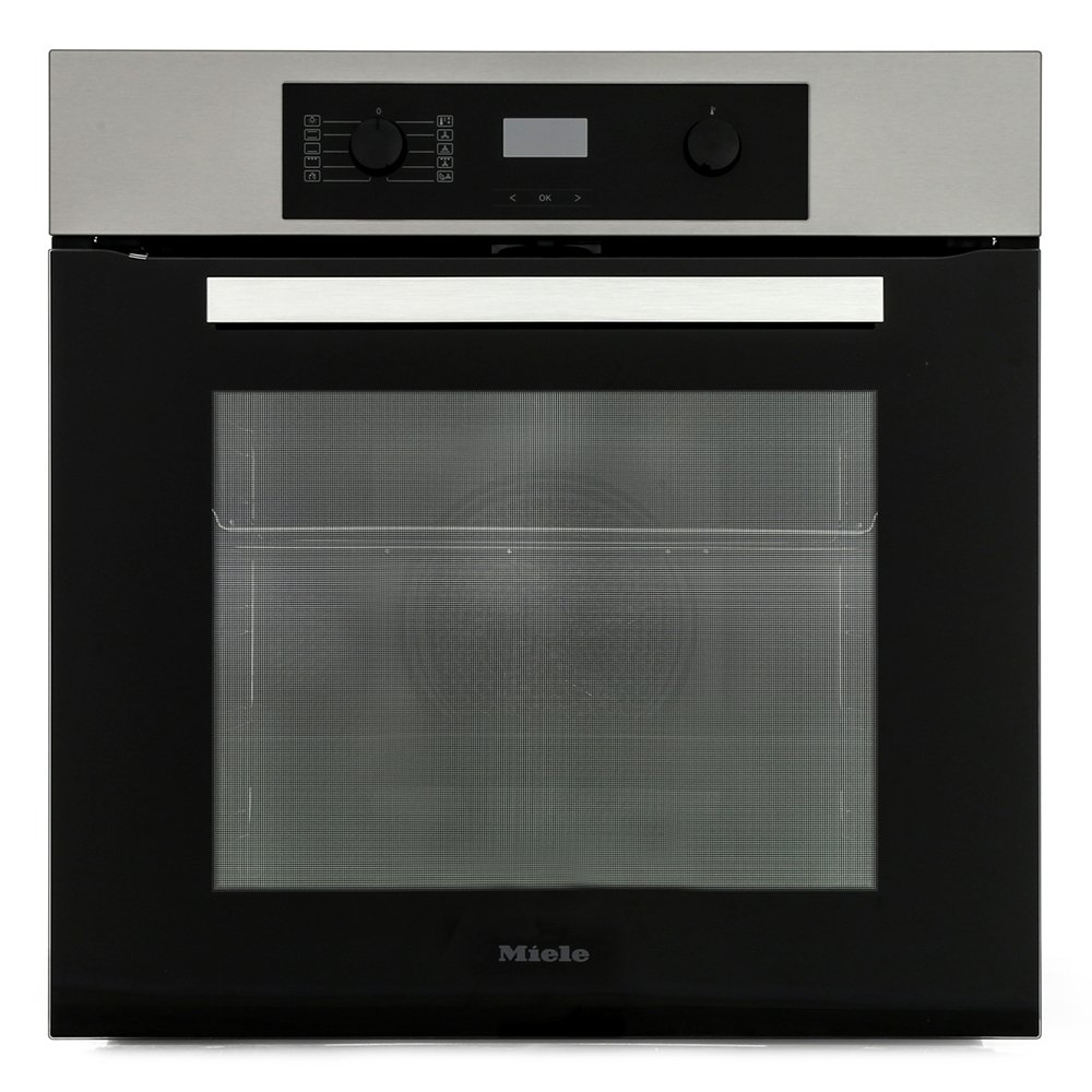 Miele ContourLine H2265-1BP CleanSteel Single Built In Electric Oven