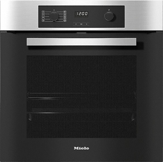 Miele ContourLine H2267-1BP CleanSteel Single Built In Electric Oven