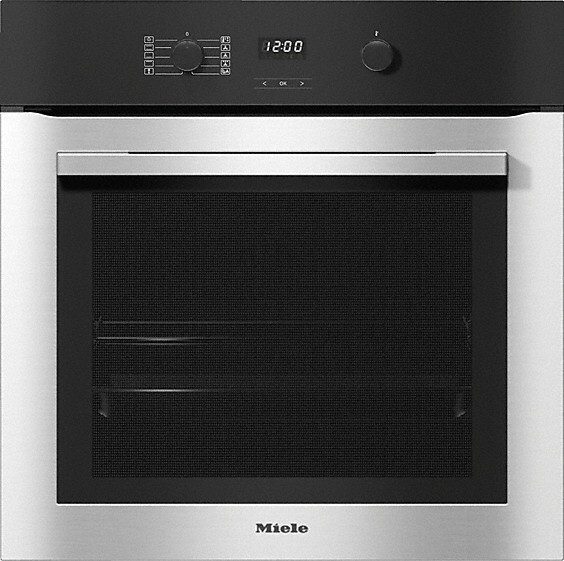 Miele ContourLine H2760B CleanSteel Single Built In Electric Oven