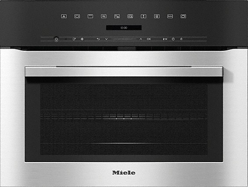 Miele ContourLine H7140BM CleanSteel Built In Combination Microwave