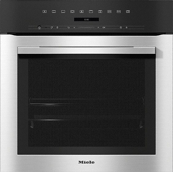 Miele ContourLine H7164B CleanSteel Single Built In Electric Oven