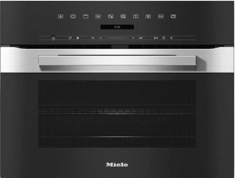 Miele PureLine H7240BM CleanSteel Built In Combination Microwave