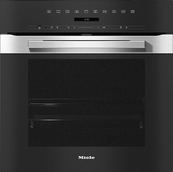 Miele PureLine H7264BP CleanSteel Single Built In Electric Oven