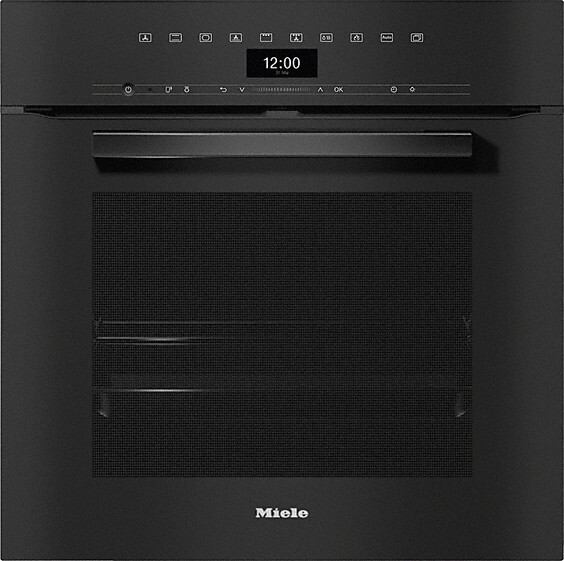Miele H7464BP VitroLine Obsidian Black Single Built In Electric Oven