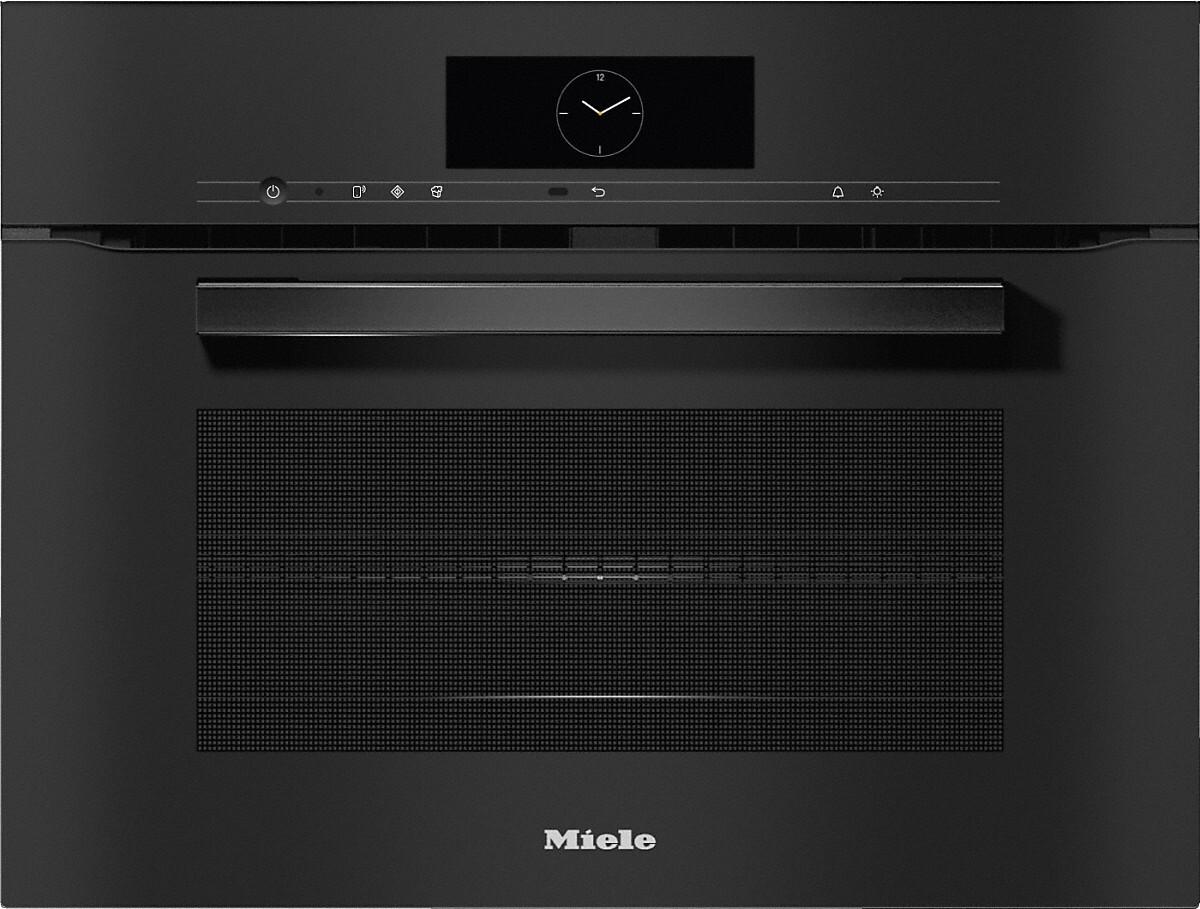 Miele H7840BM VitroLine Obsidian Black Built In Combination Microwave