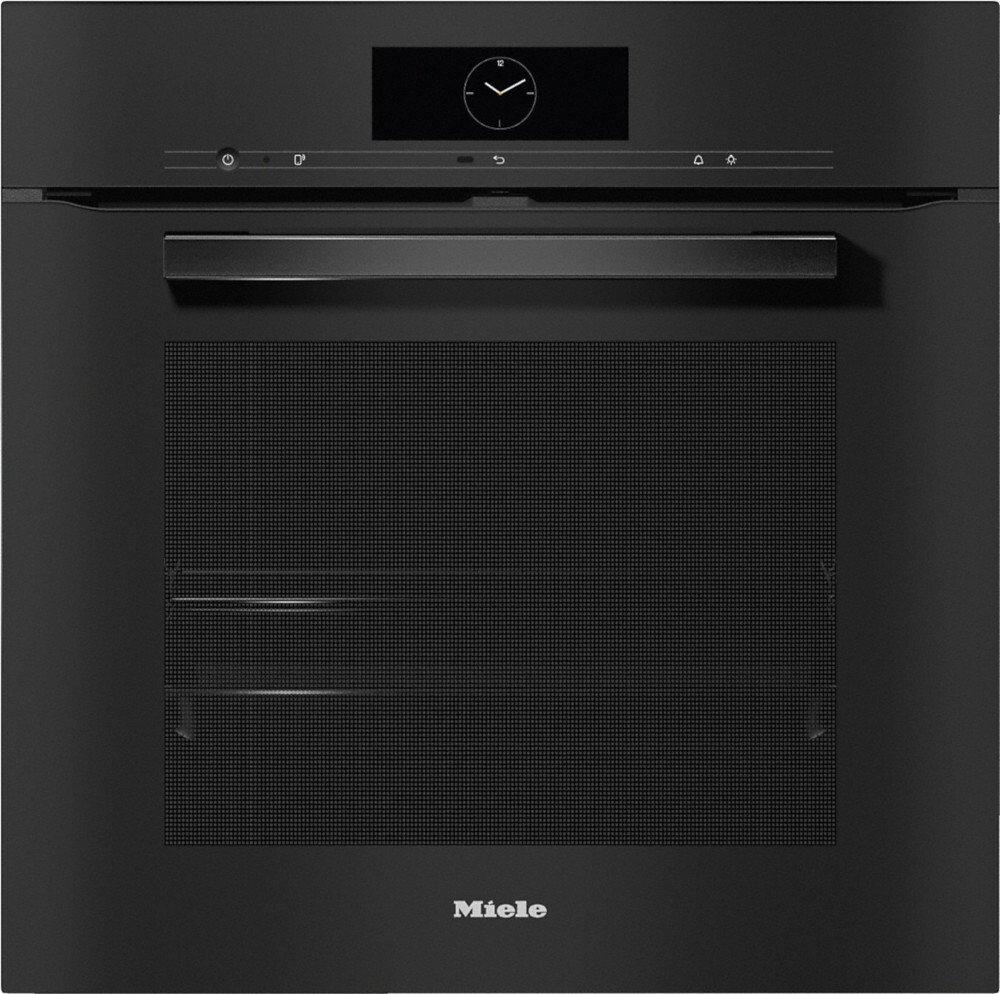Miele H7860BP VitroLine Obsidian Black Single Built In Electric Oven
