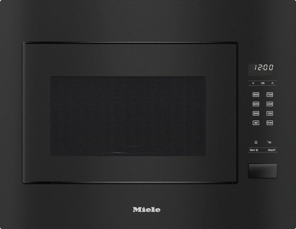 Miele ContourLine M2240SC Obsidian Black Built In Microwave with Grill